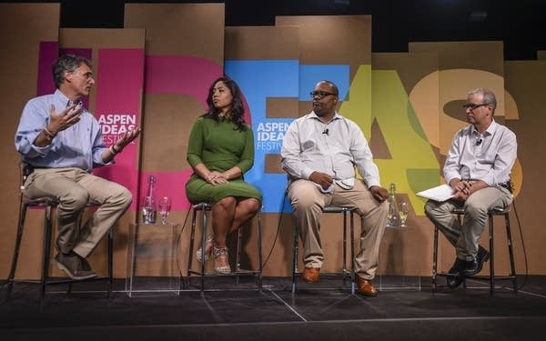 """Panel on """"Stopping the Violence in Chicago"""" at the Aspen Ideas Festival."""
