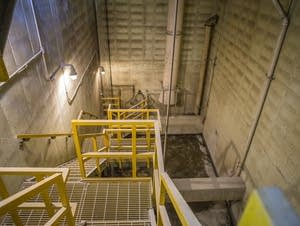 Inside the Metropolitan Council sewer lift station.