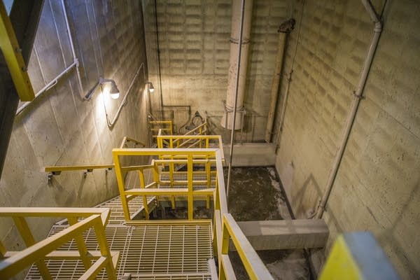 The Metropolitan Council sewer lift station in Eagan runs on Tuesday.