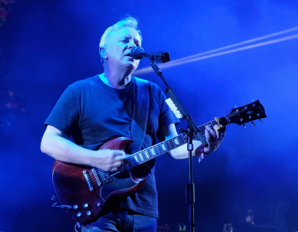 Bernard Sumner of New Order performing at Coachella 2017