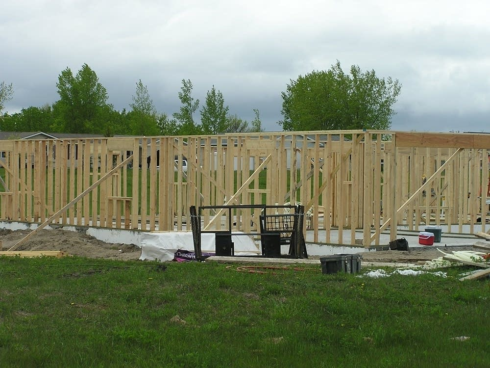 Housing construction in Pelican Rapids