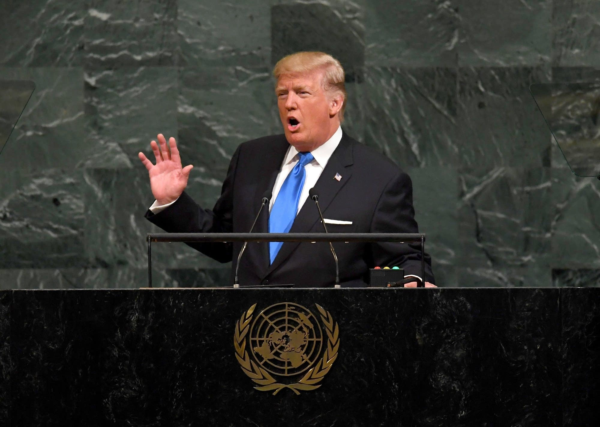 President Trump addresses the U.N. General Assembly.