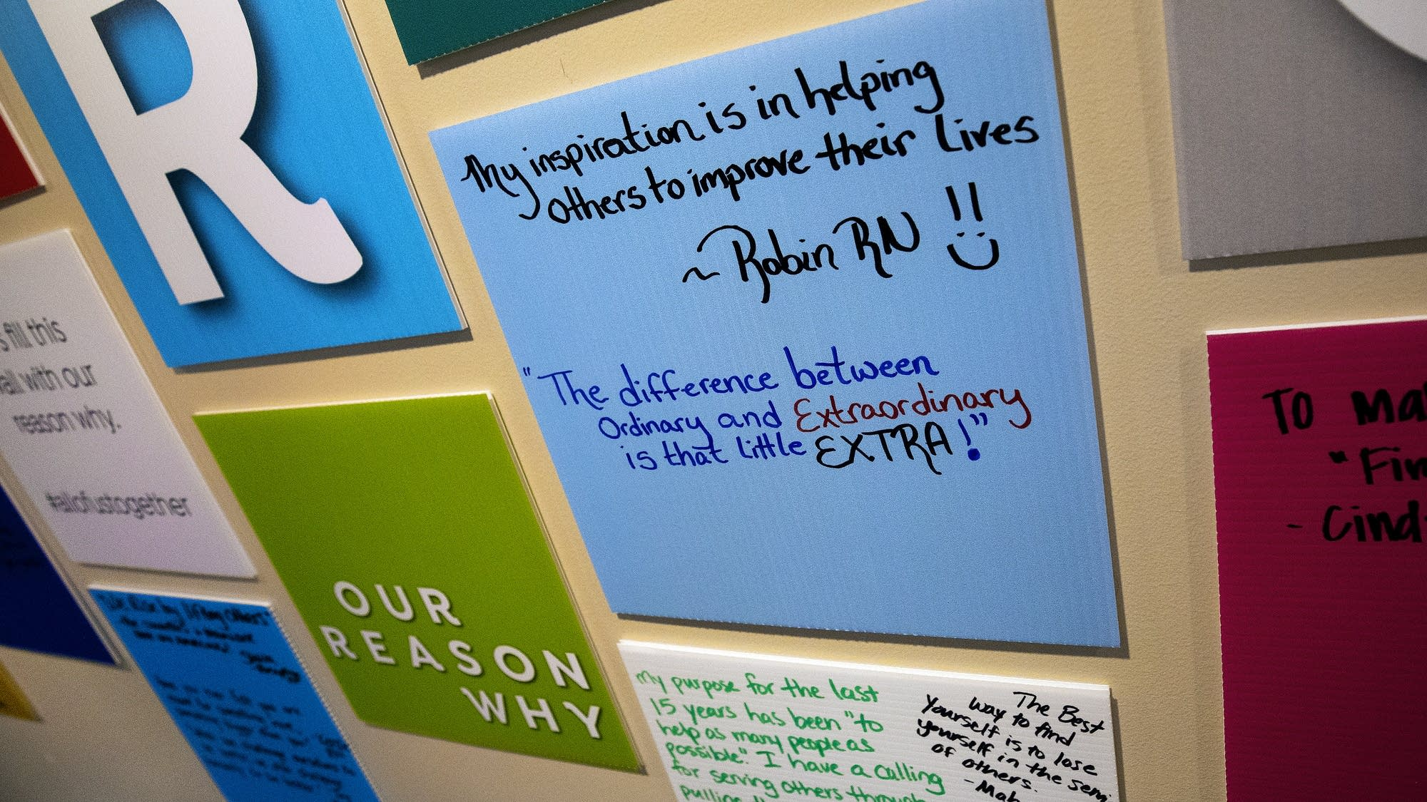 Patients are encouraged to share their thoughts or an inspirational quote.