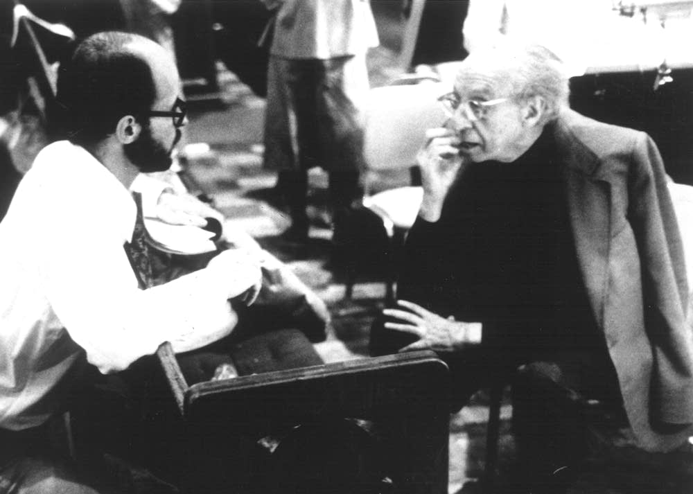 Philip Brunelle and Aaron Copland