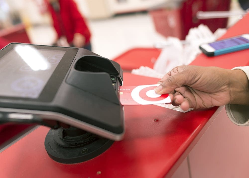 A Target customer used a chip card reader.