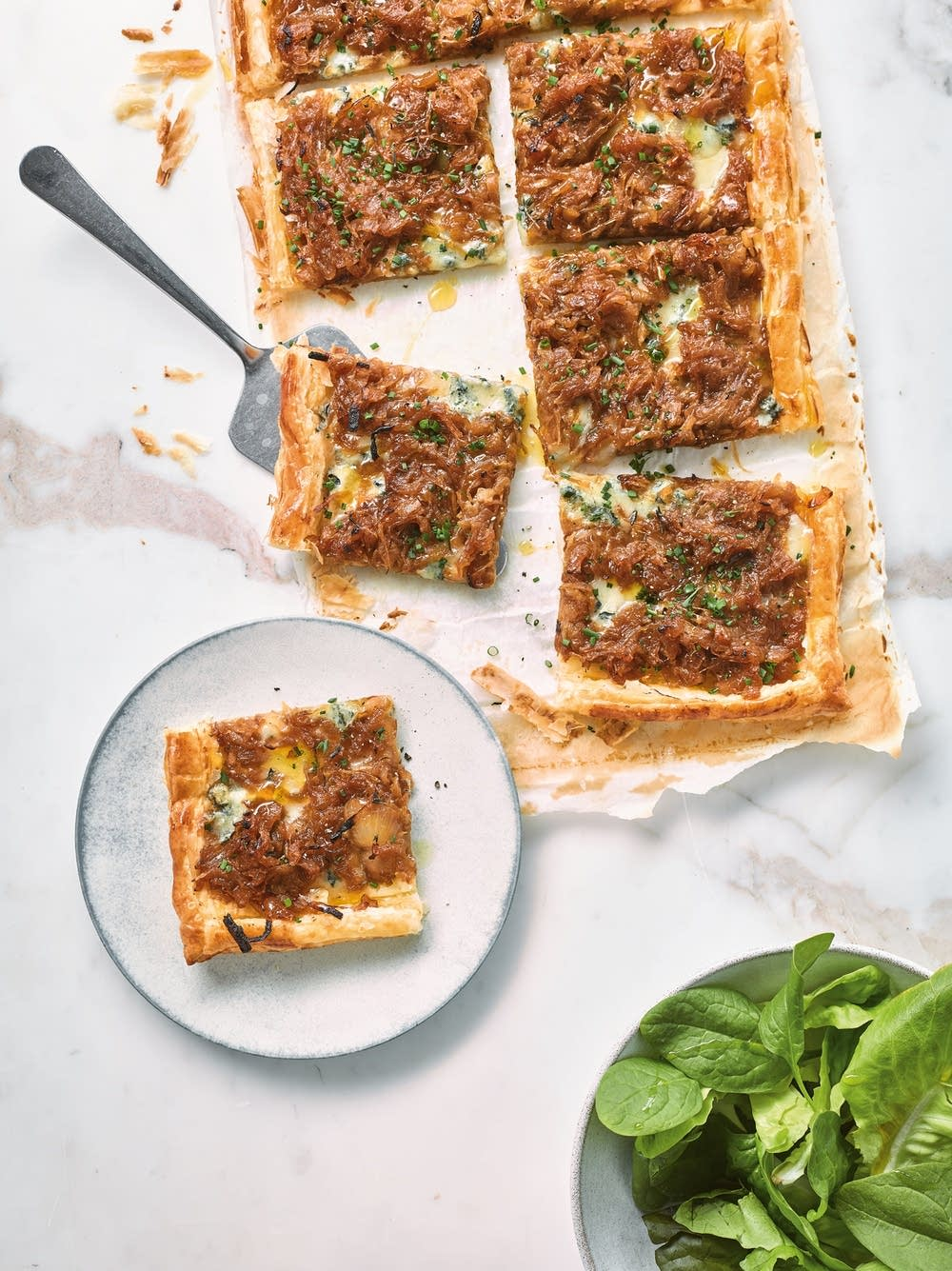 French Onion and Blue Cheese Tart