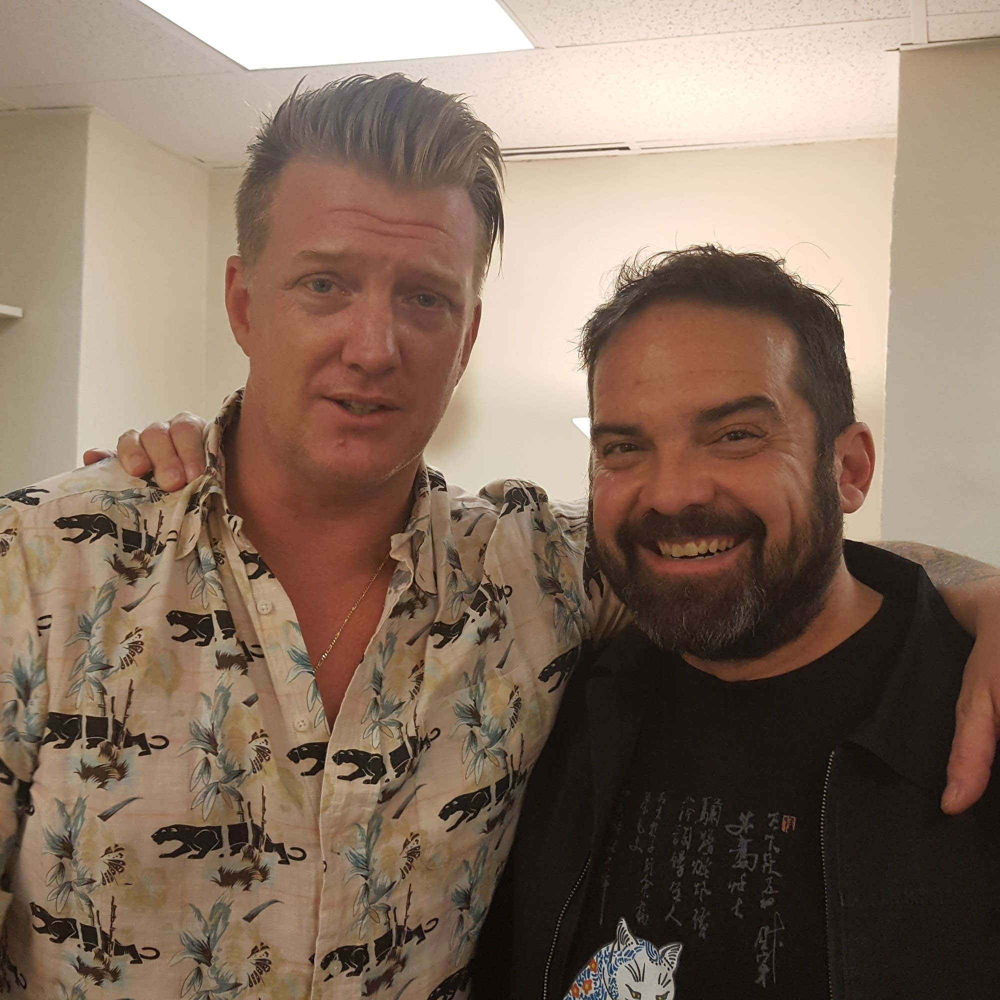 Josh Homme of Queens of the Stone Age with Brian Oake
