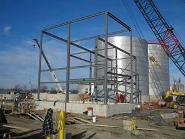 Ethanol plant under construction