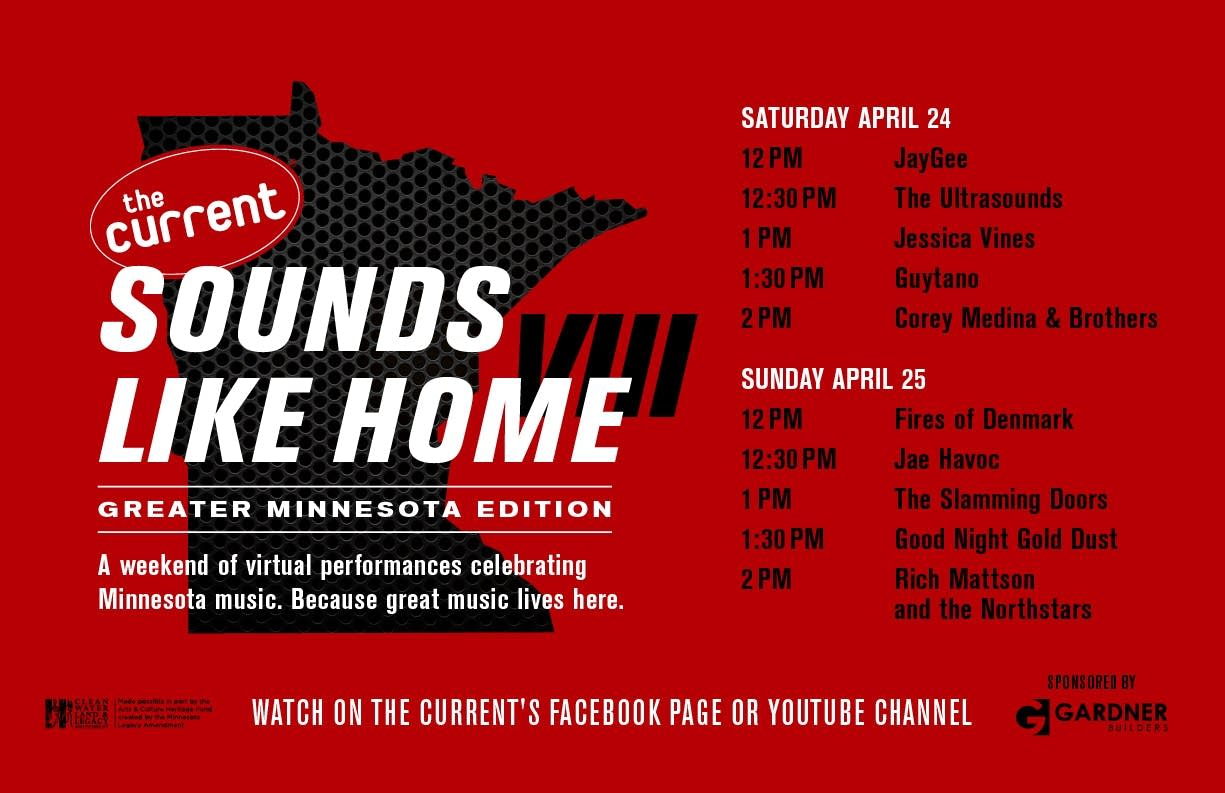 Sounds Like Home VIII graphic 17x11 poster with schedule