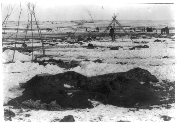 Big Foot's camp three weeks after the massacre.