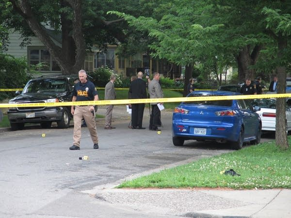 Police investigate a shooting in St. Paul.
