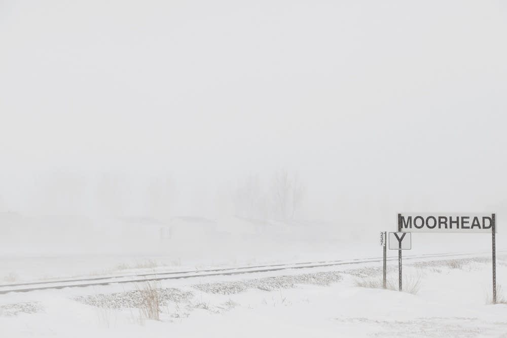 Whiteout conditions were common in open country