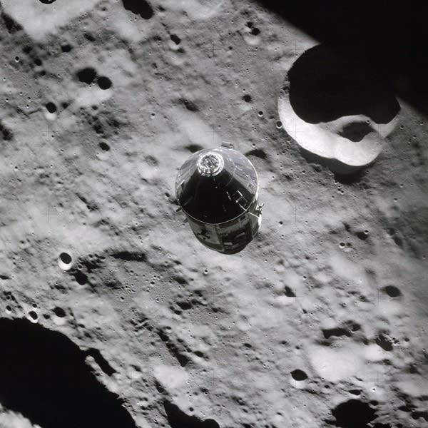 The Apollo 16 Command Module Casper, photographed in April 1972