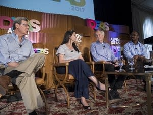 Panelists take questions at the Aspen Ideas Festival.
