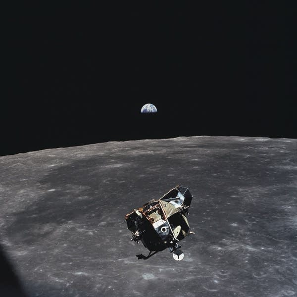 The Apollo 11 ascent stage