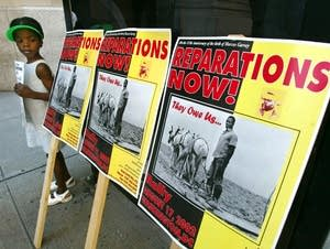 Protest for reparation, 2002