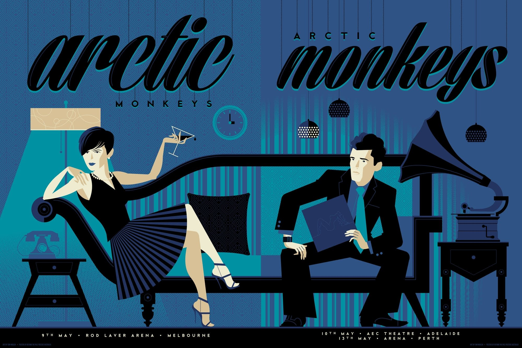 Arctic Monkeys poster, from 'OMG Posters'