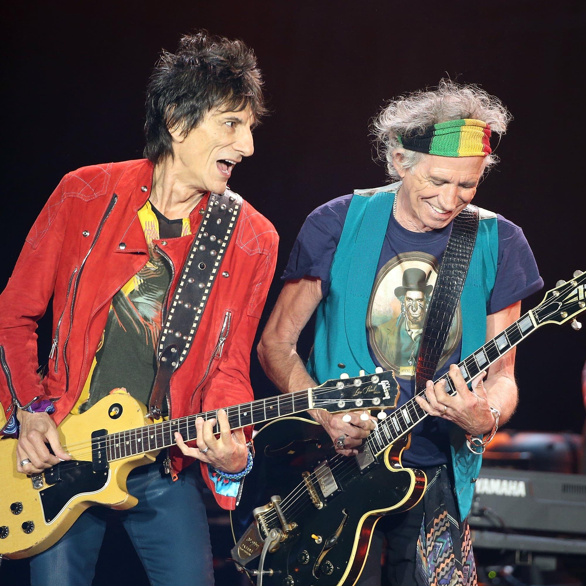 Rolling Stones' Ron Wood in focus