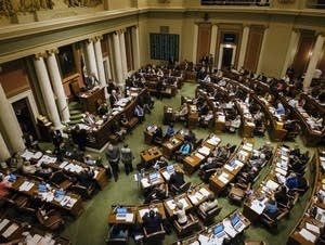 The Minnesota House meets during the final week of the legislative session.