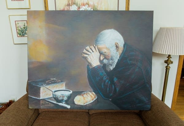 "A large canvas print of ""Grace"" by photographer Eric Enstrom."