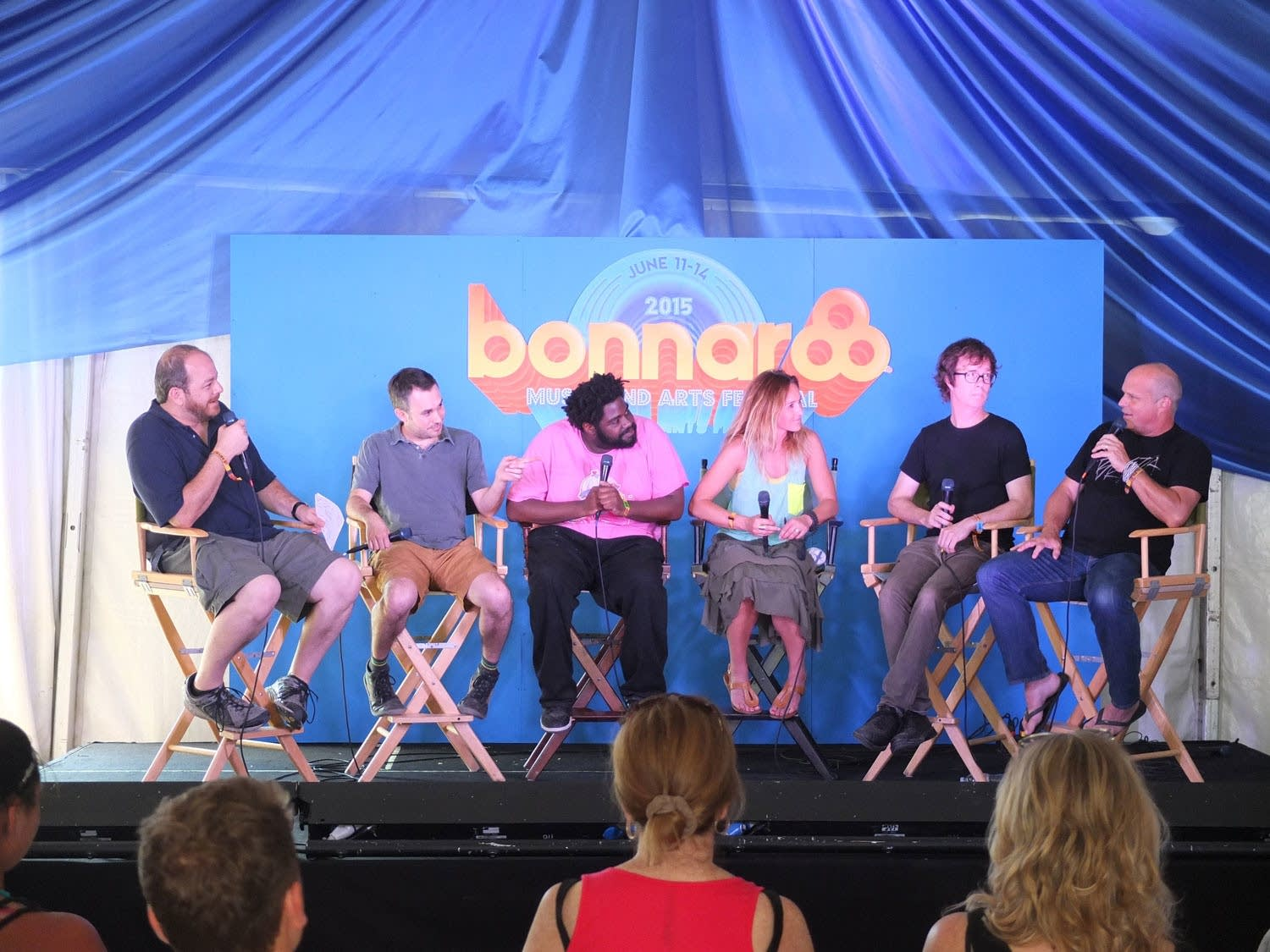 Music industry discussion panel at Bonnaroo
