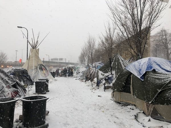 Minneapolis homeless encampment
