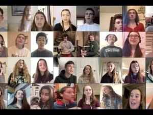 A virtual high school choir sings on YouTube