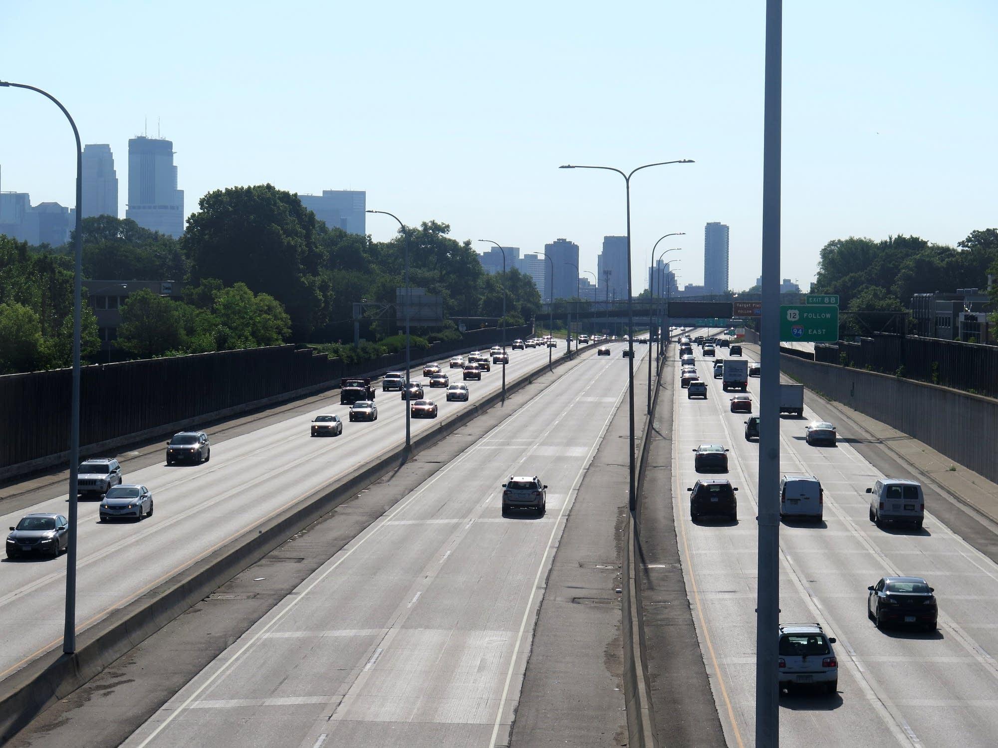 Dedicated MnPASS lanes on Interstate 394