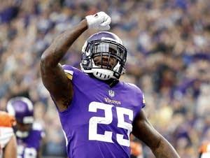 Minnesota Vikings running back Latavius Murray.