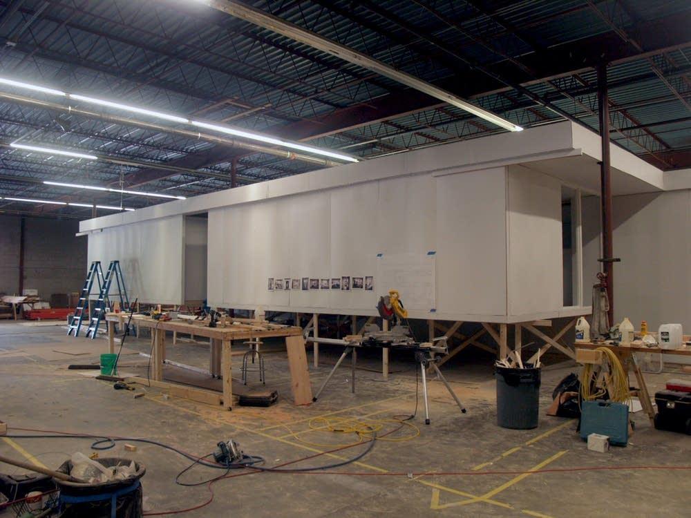 The replica in Larson's studio