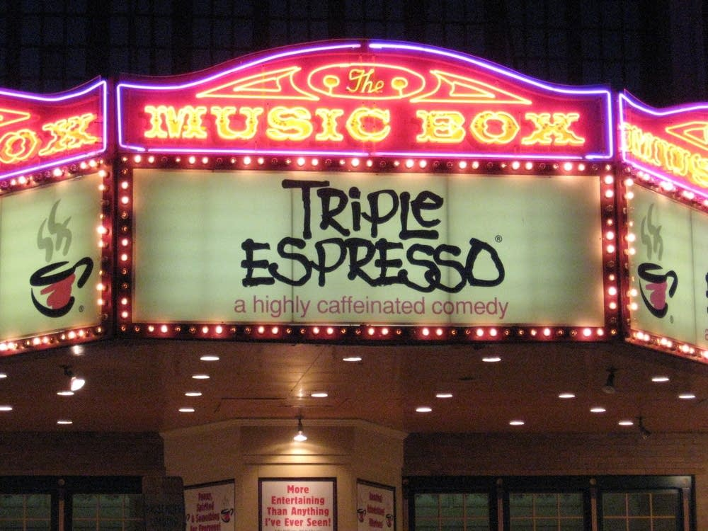 The Music Box marque anouncing Triple Espresso