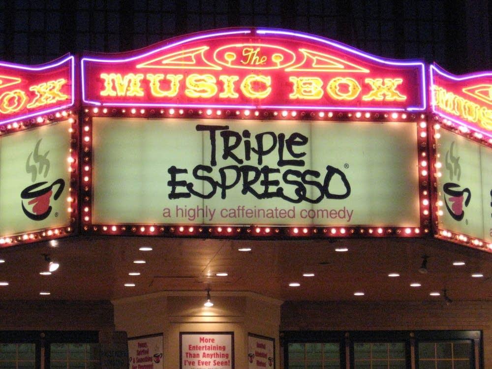 The Music Box marque anouncing Triple Espresso