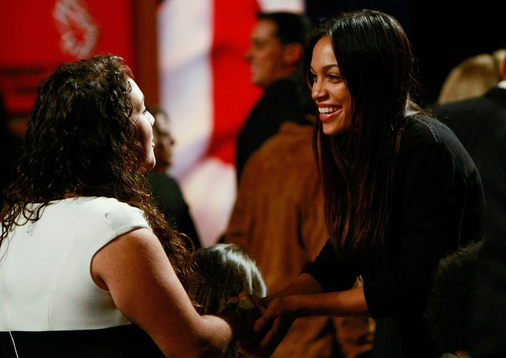 Actress Rosario Dawson at the debate