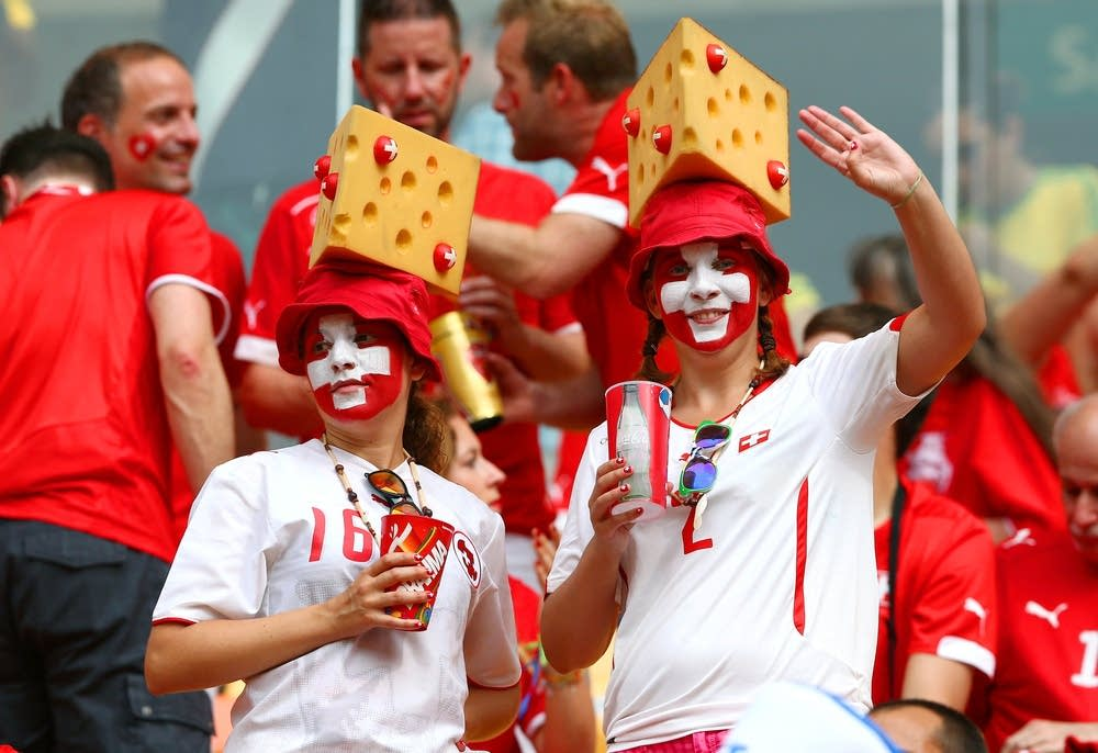 Switzerland fans cheer