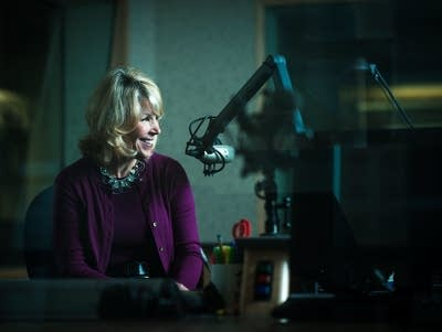 Kerri Miller in the studio