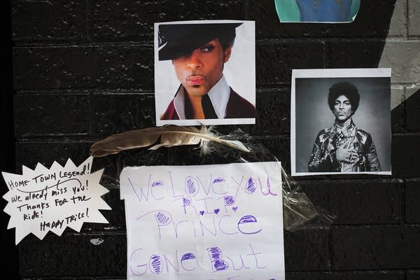 Remembering Prince outside First Avenue