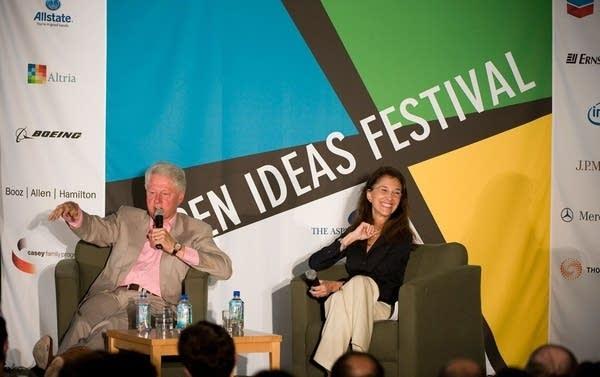 Clinton at the Aspen Ideas Festival