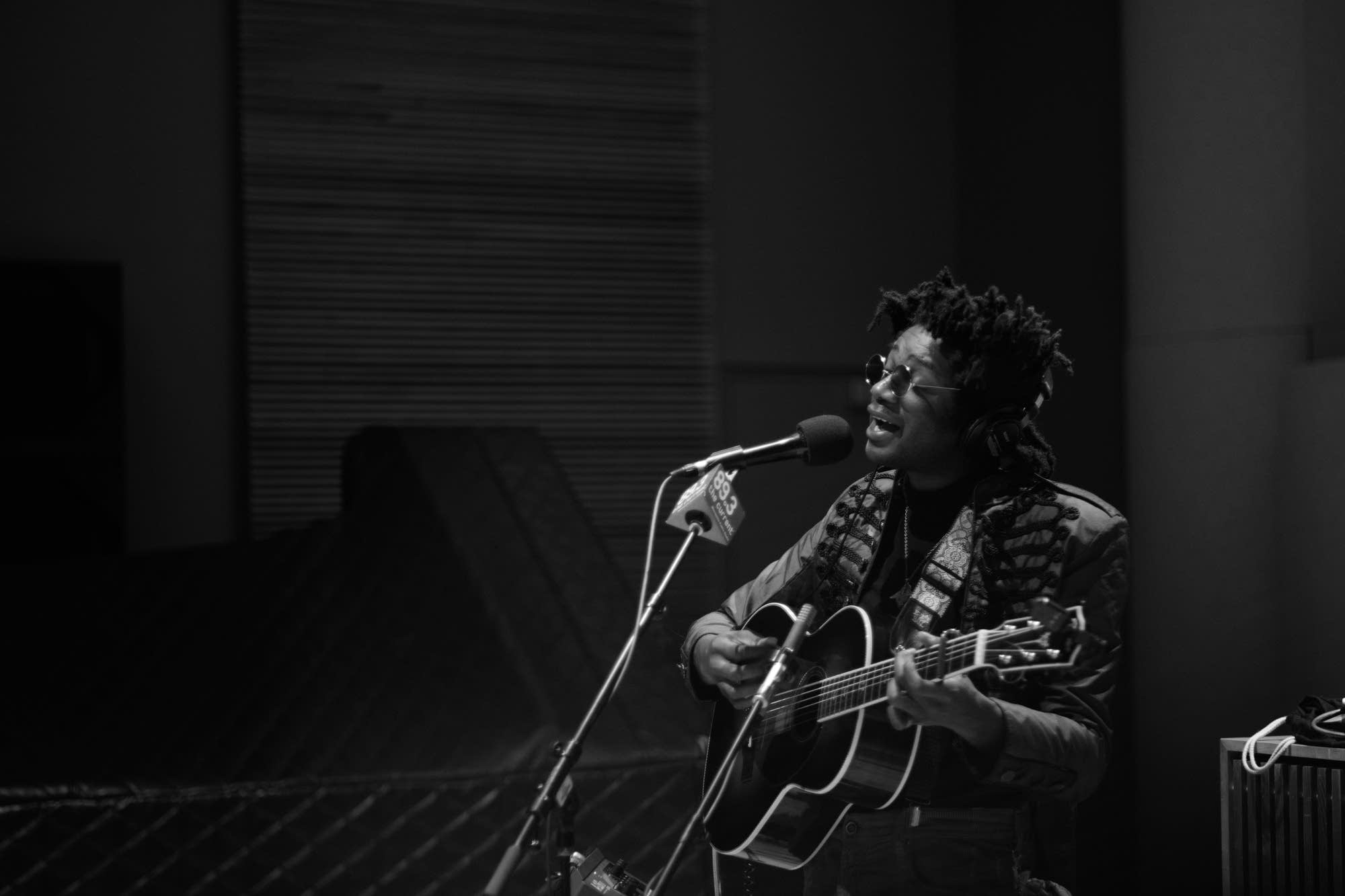L.A. Salami performs in The Current studio
