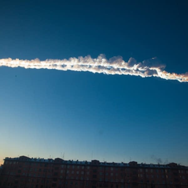 Meteor across the sky