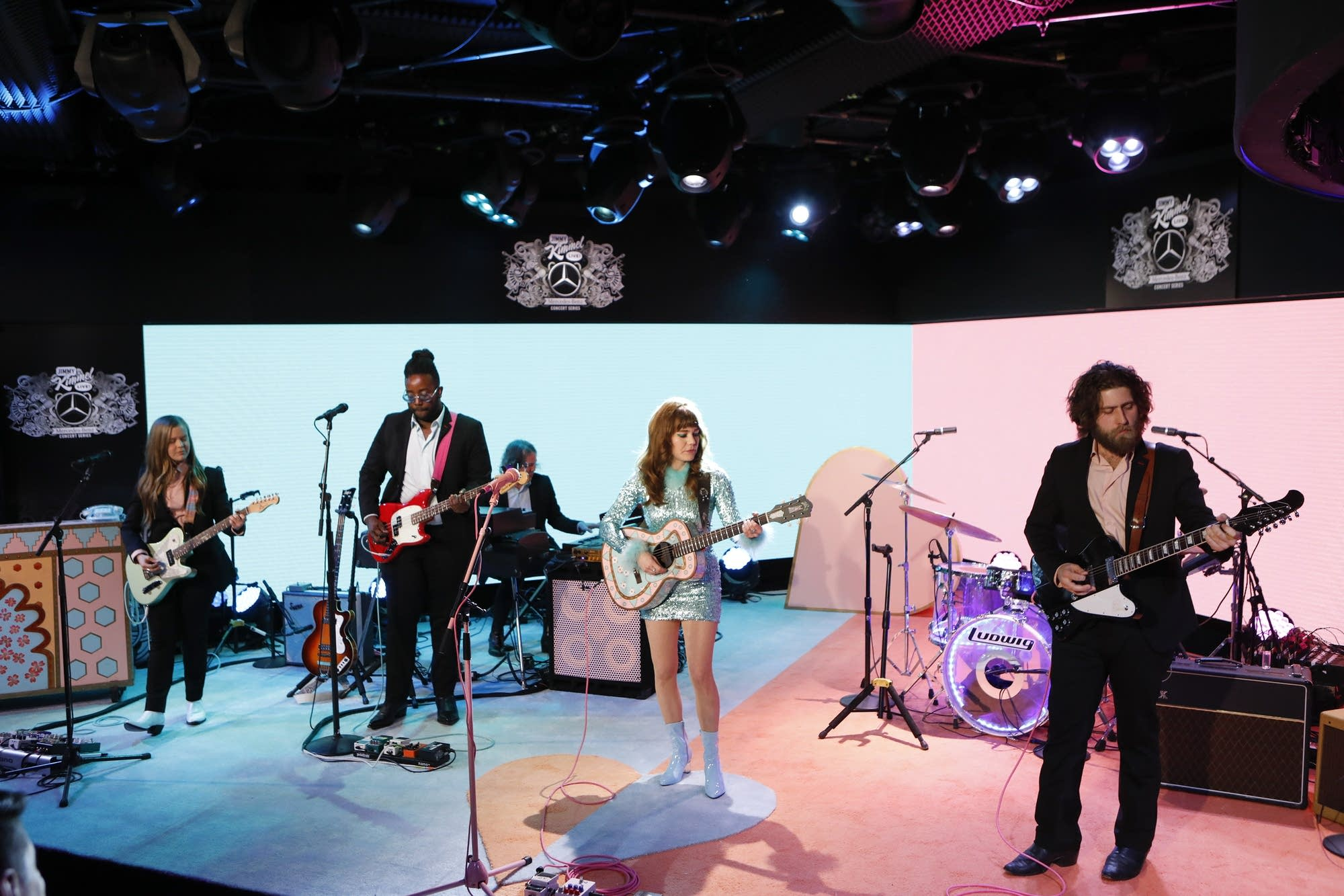 Jenny Lewis performs on 'Jimmy Kimmel Live!' on ABC