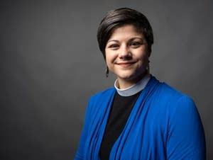 Rev. Emmy Kegler sits for a portrait.