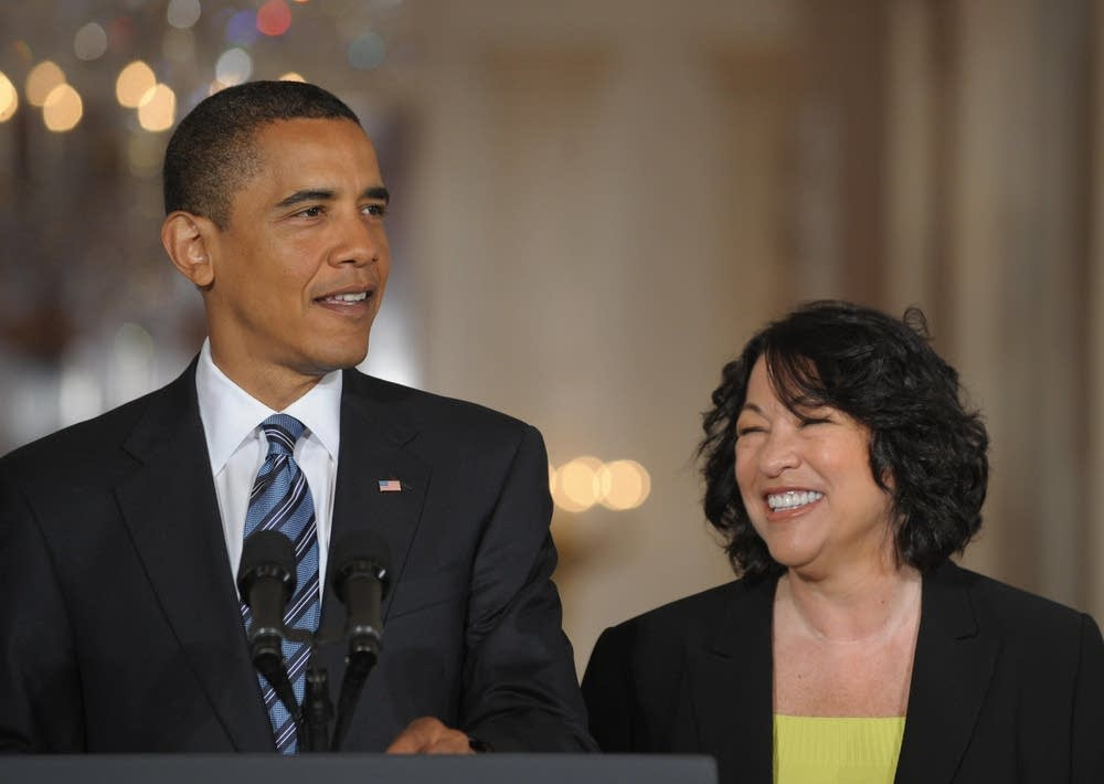 President Barack Obama and Sonia Sotomayor