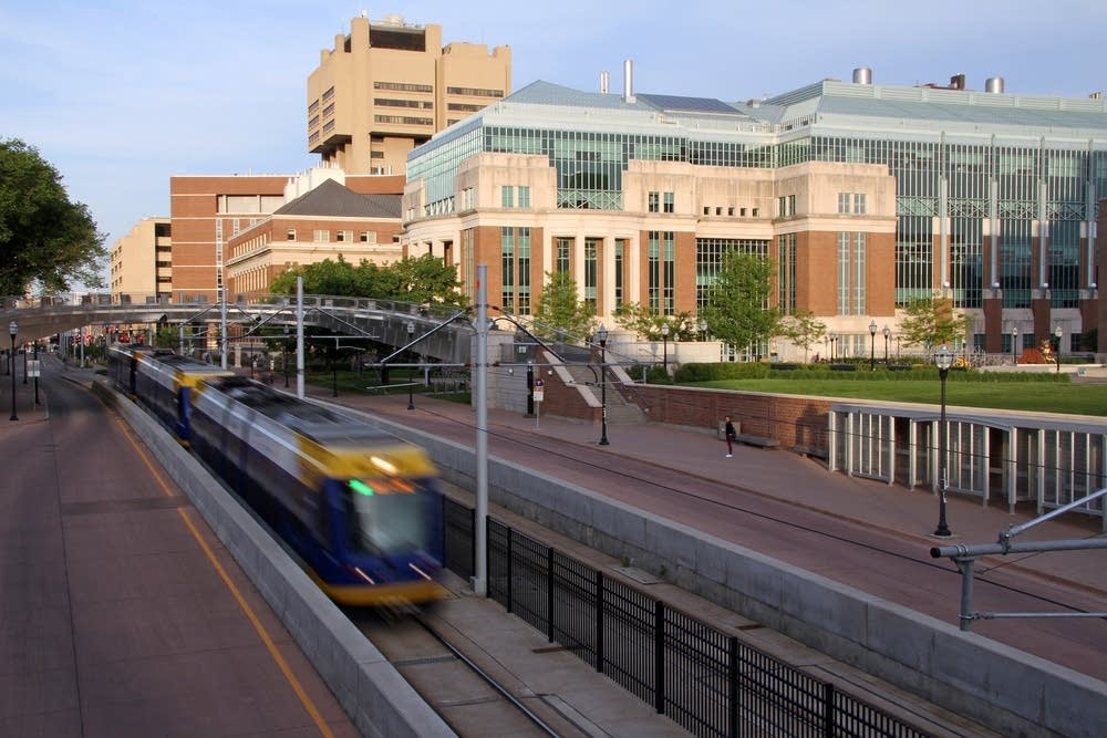 A Green Line train passed research labs at the U.