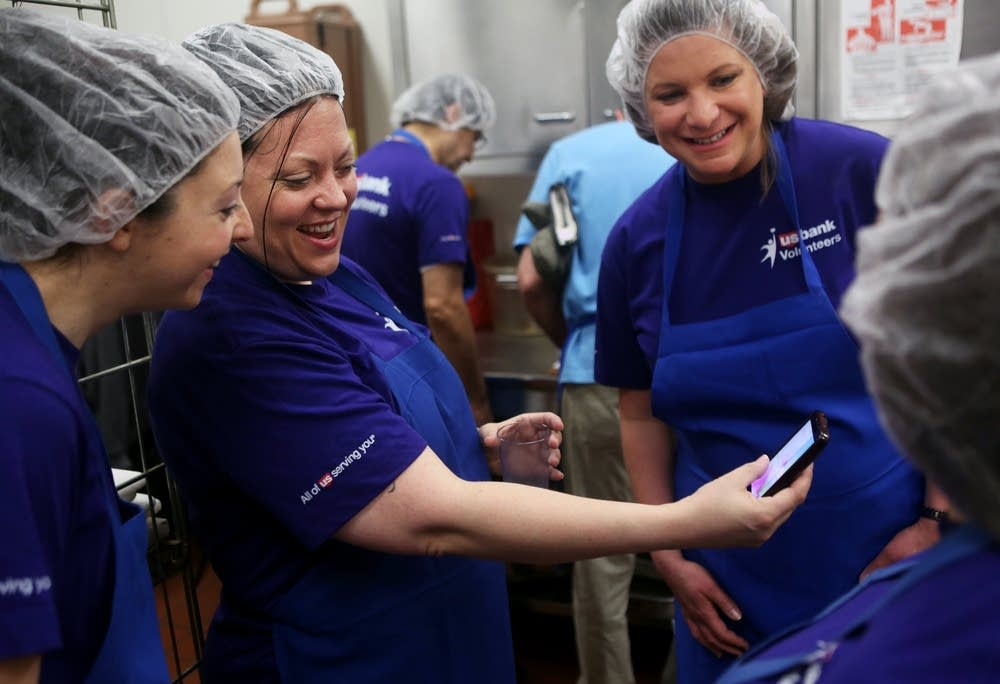 Showing off a photo