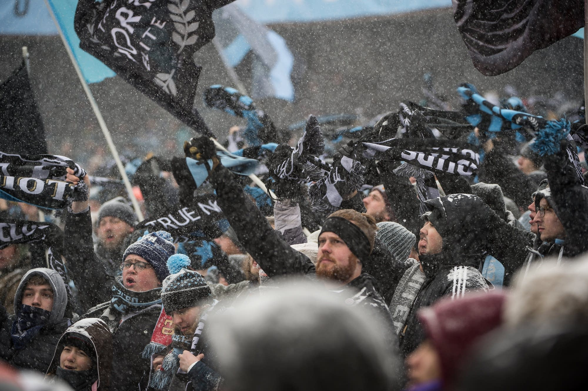 Minnesota United fans displayed their support and spirit in full regalia.