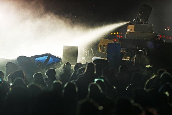 Protesters and police clashed late Sunday, Nov. 20.