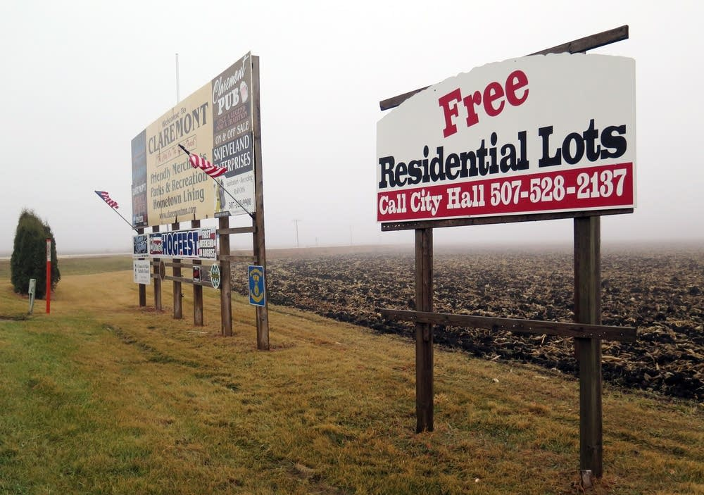 Claremont is offering free residential lots.