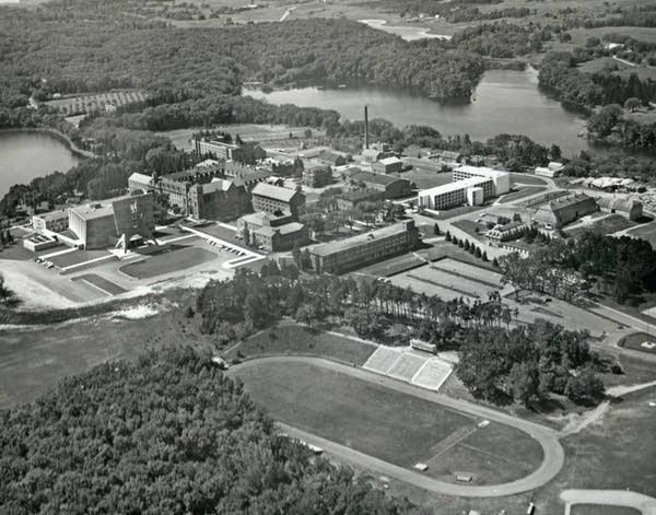 The campus of St. John's University, ca. 1960.