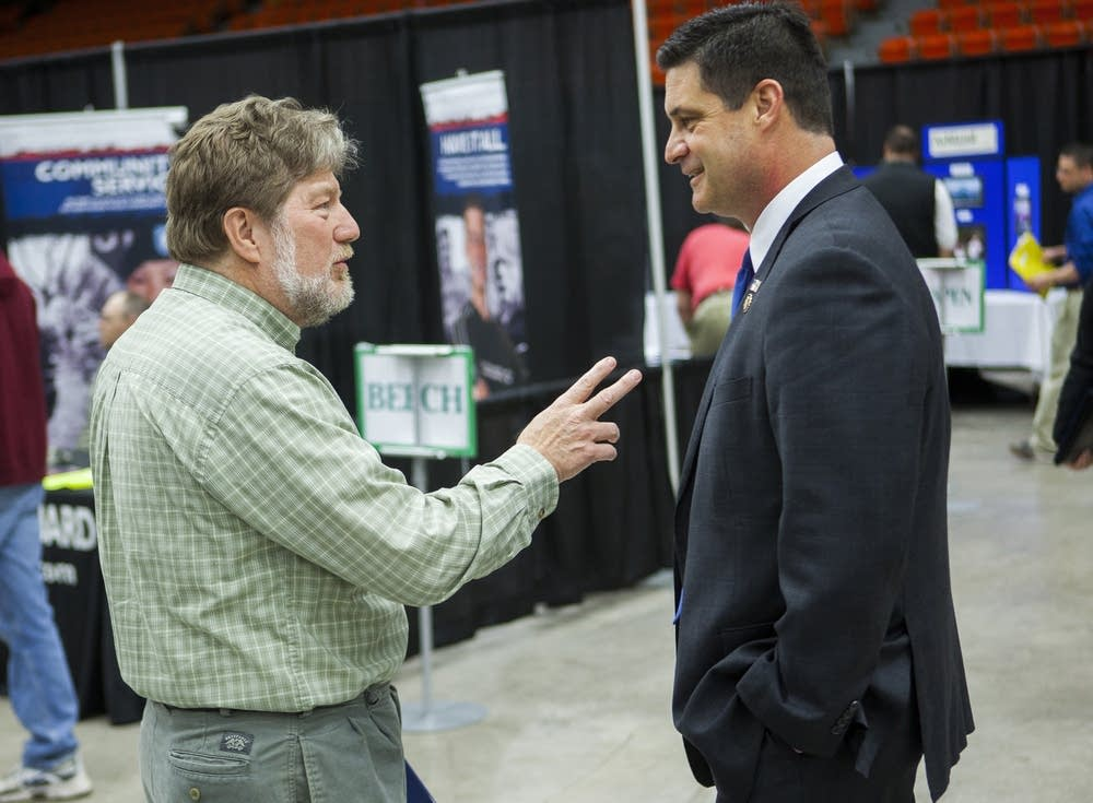 John Talcott talks to Rep. Chip Cravaack