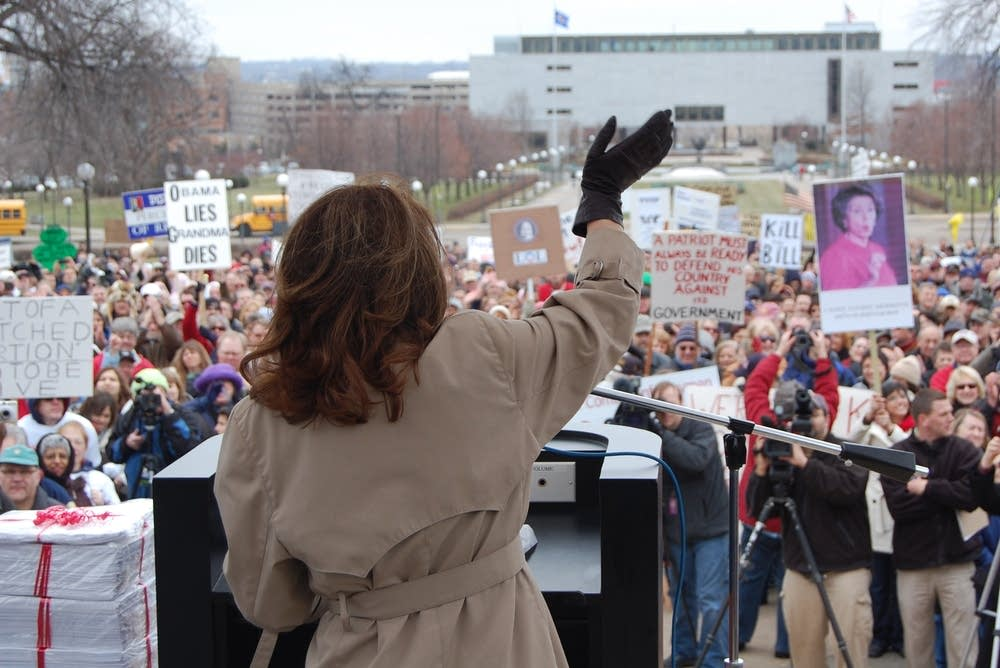 Bachmann at Tea Party rally